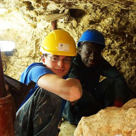 javva chantier de volontariat belgique aux mines de spiennes, projet archéologie